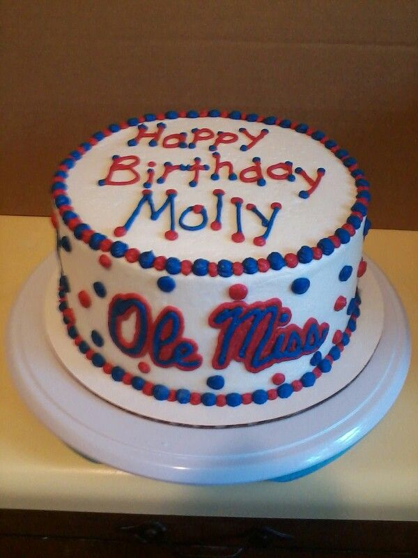 Surprising Ole Miss Birthday Cake With Images Miss Cake Cake Cake Funny Birthday Cards Online Fluifree Goldxyz