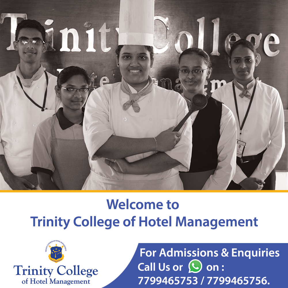Trinity college of Hotel Management in Hyderabad  100% Placement