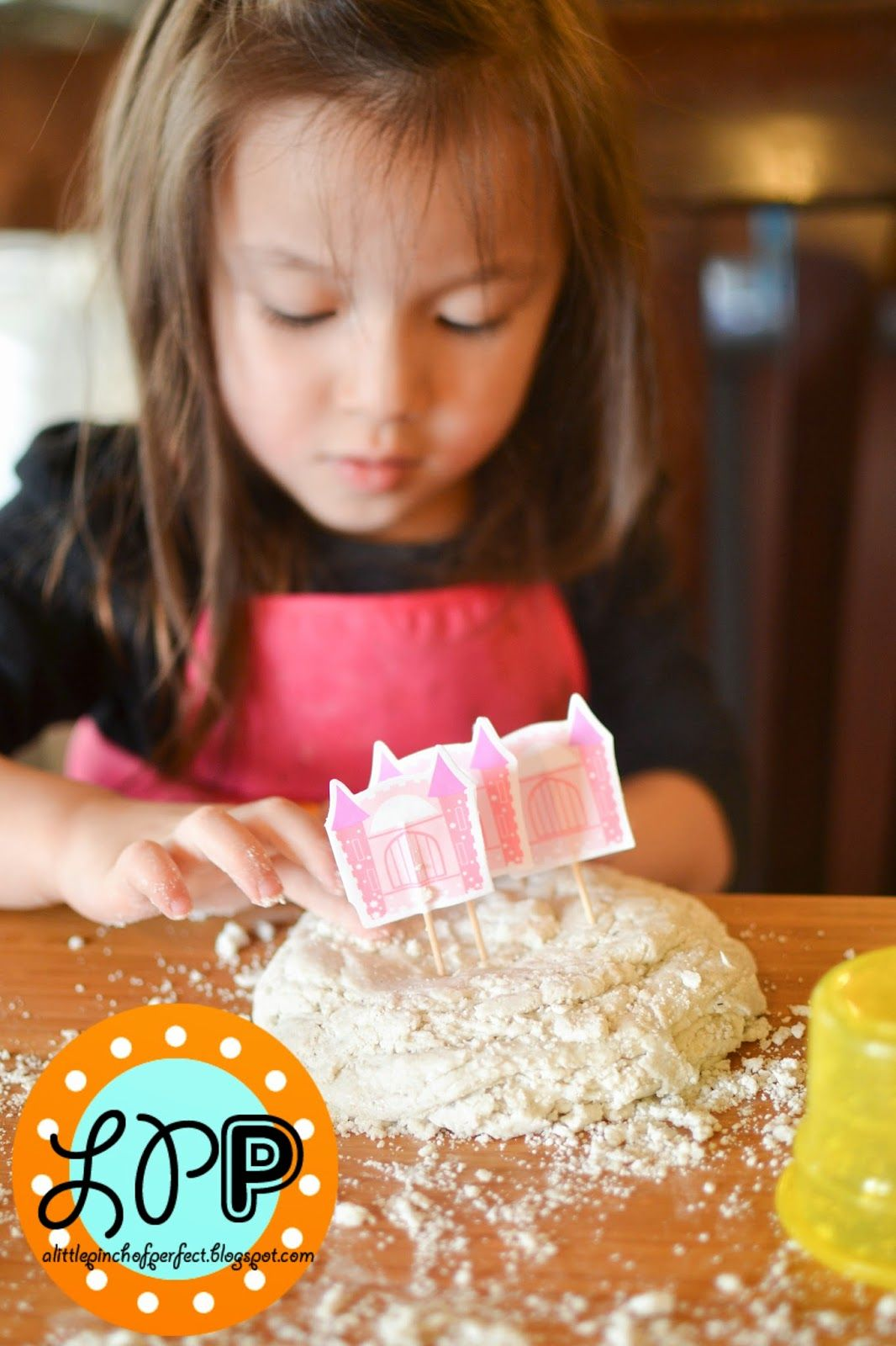 Make sand play dough - bring sandcastles inside!