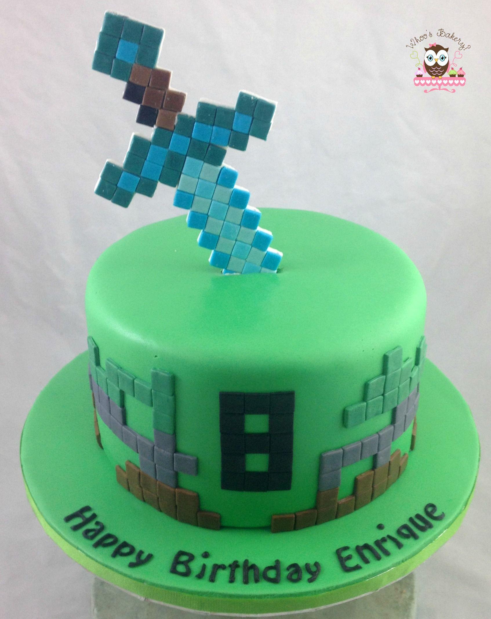 minecraft cake, diamond sword | Cakes & Cupcakes ...