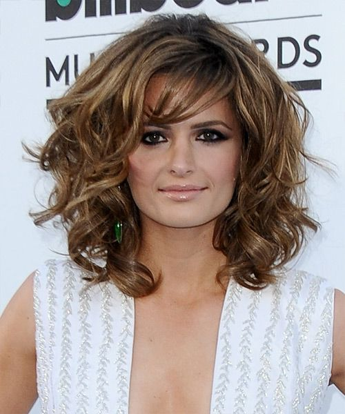 Stana Katic Medium Wavy Formal Hairstyle | Stana katic, Medium ...