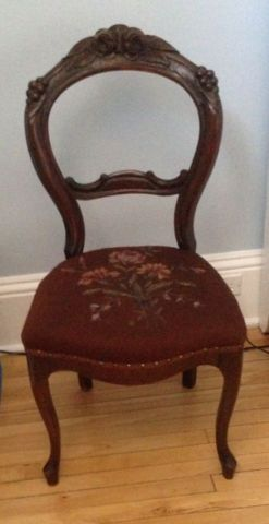 2 Antique Victorian Parlor Chairs