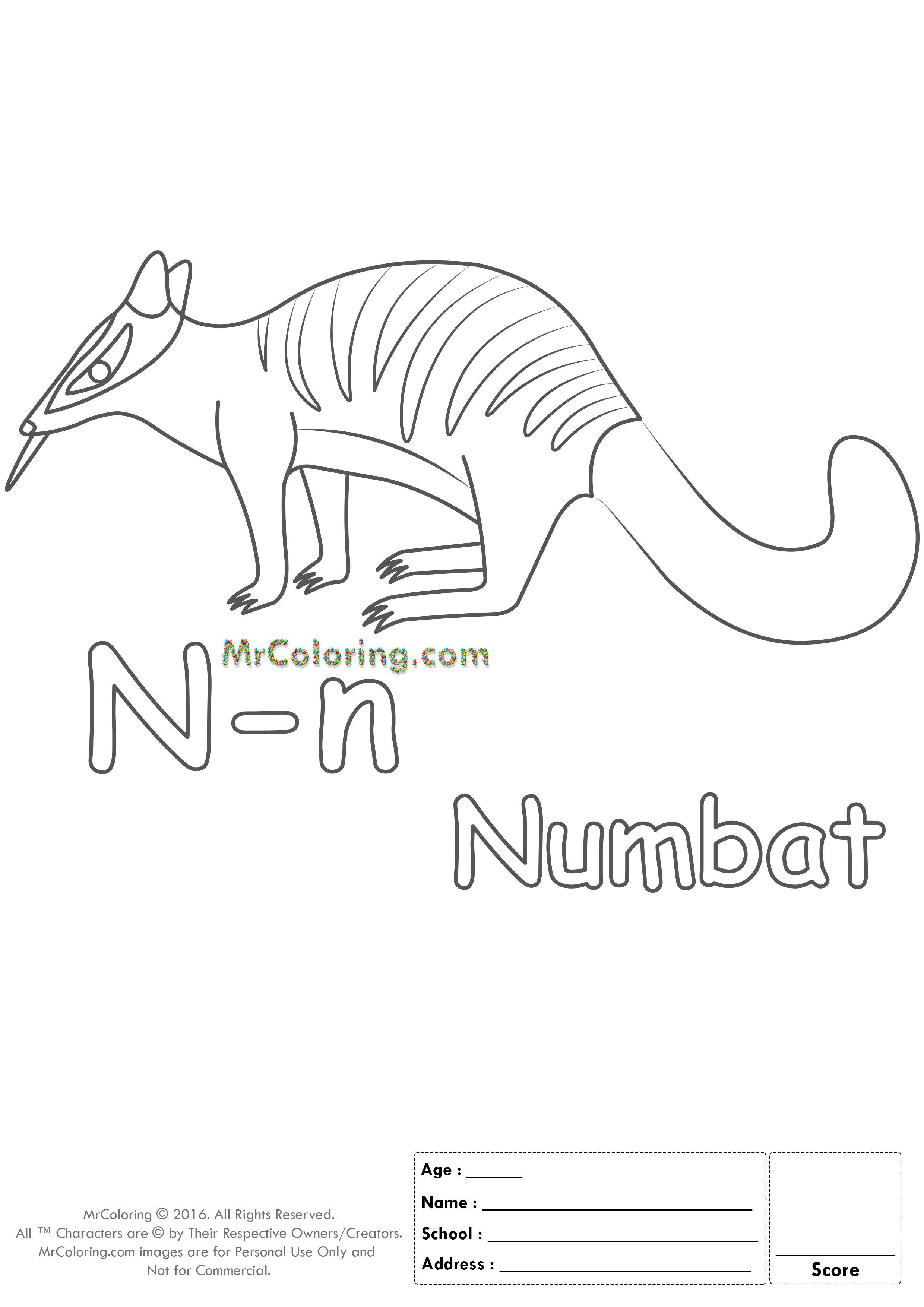 Alphabet Letter Nn Coloring Pages Coloring Worksheets
