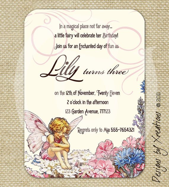 garden fairy enchanted invitation