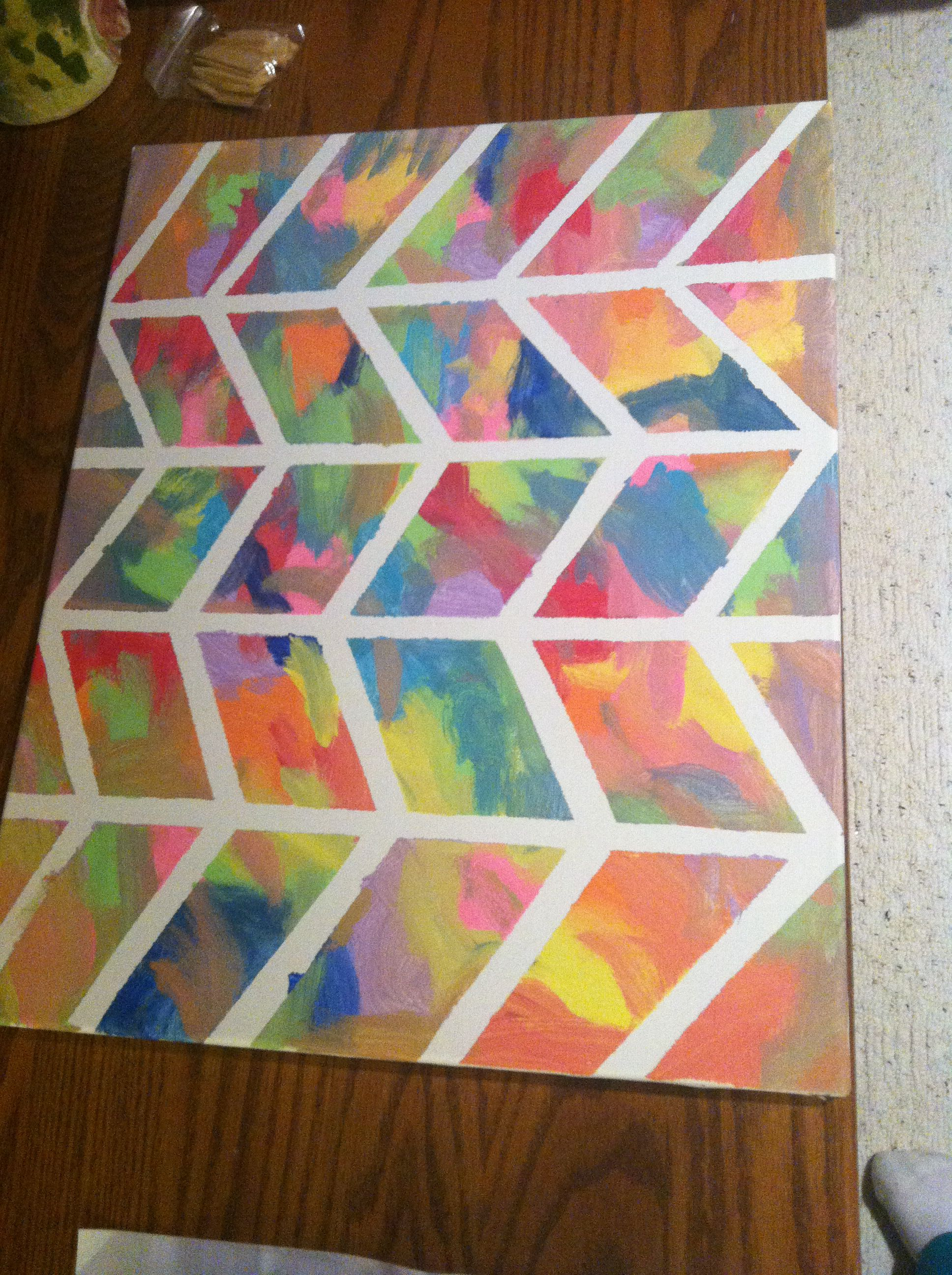 Fun Easy Craft To Do Right At Home Just Need Colored Paint Canvas