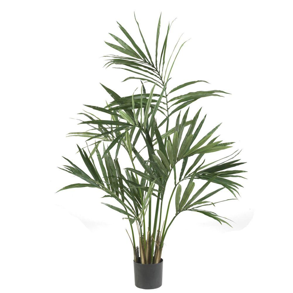 Home Depot Palm Trees Nearly Natural 5 Ft Green Kentia Palm Silk Tree Accessorizing