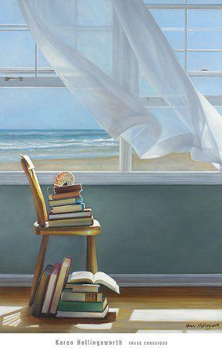 "Amazon.com: Summer Reading List by Karen Hollingsworth 24""x36"" Art Print Poster: Posters & Prints"