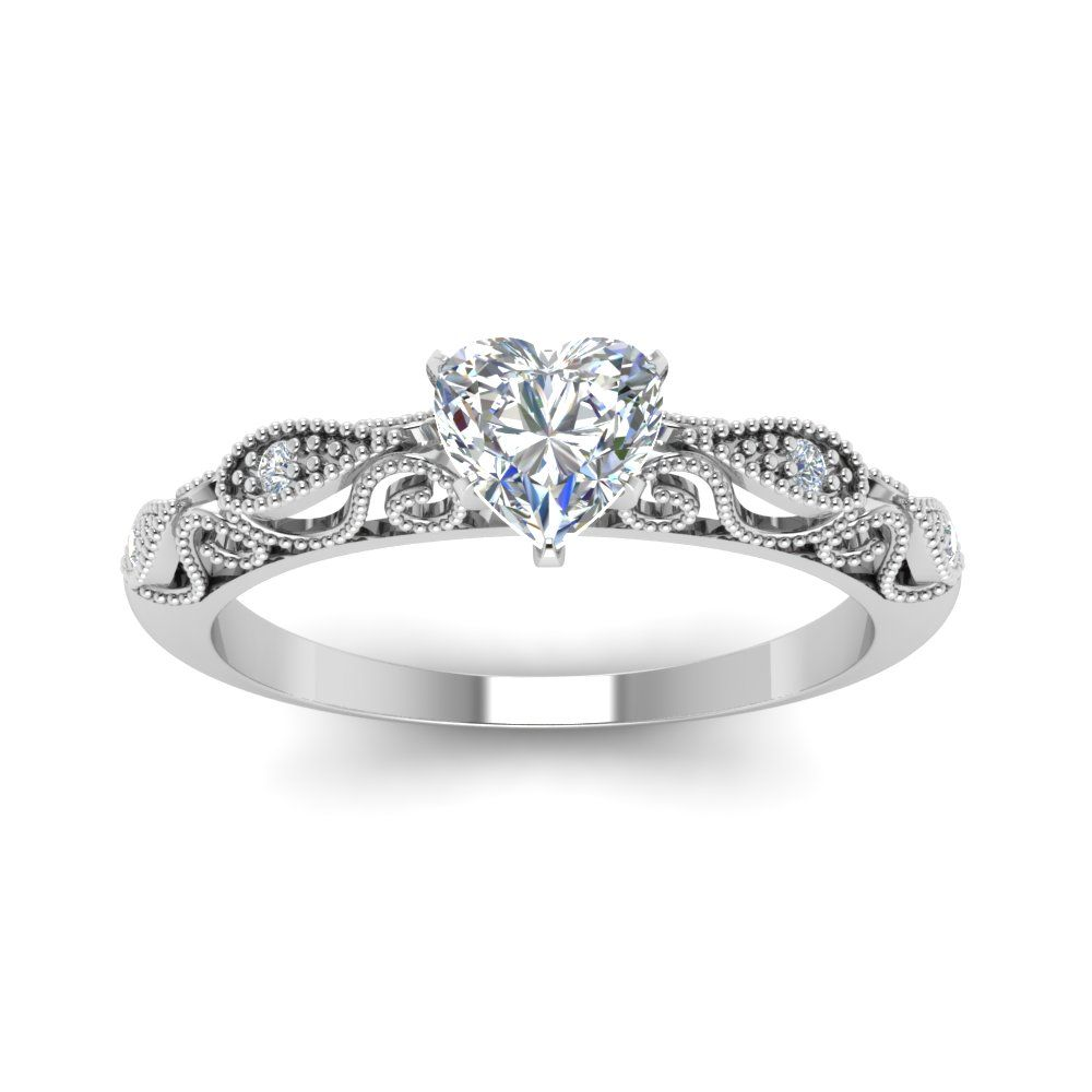 14db966ad3f42e Paisley Diamond Engagement Ring in 2019 | Rings | Heart diamond ...