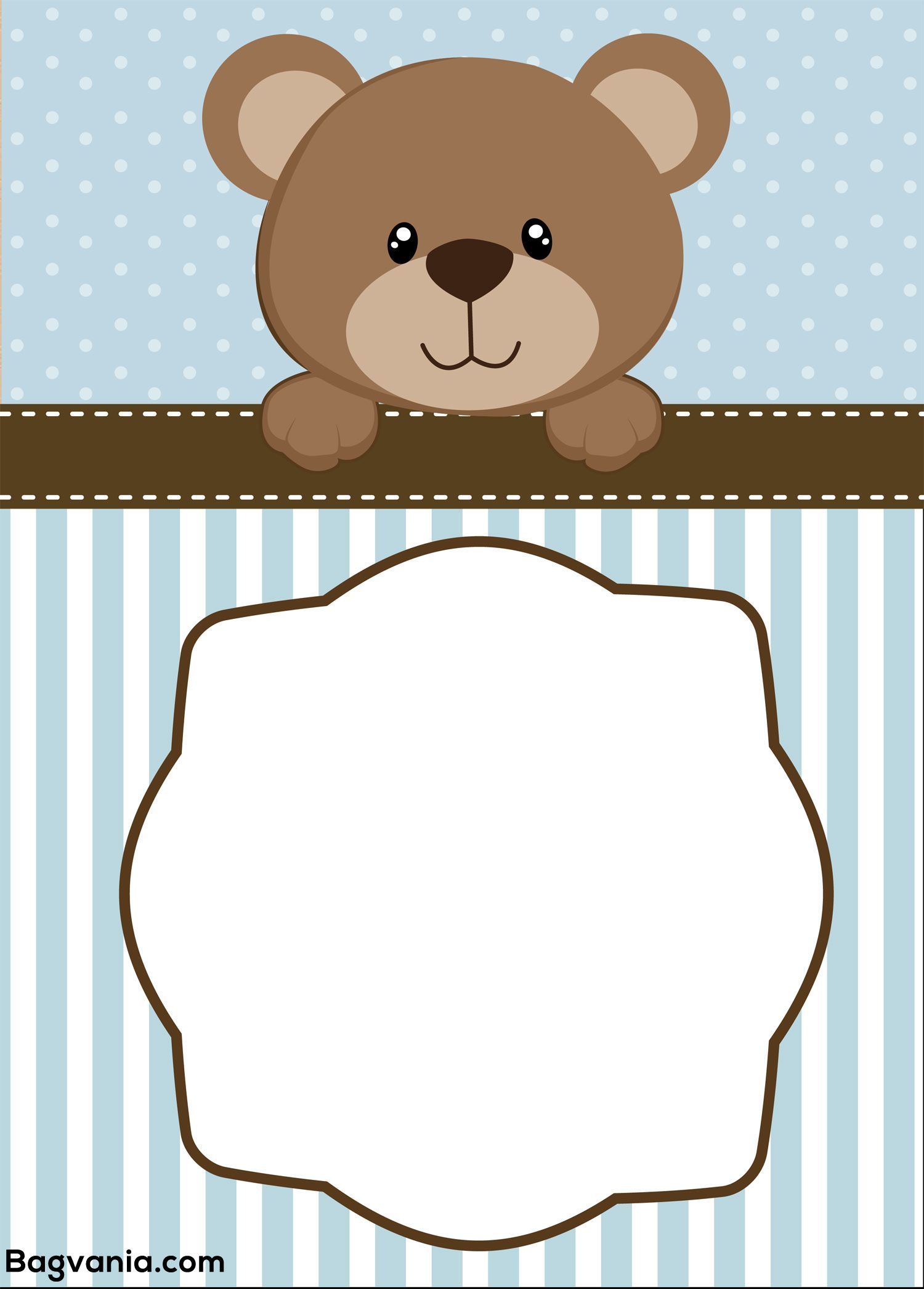 Download Free Teddy Bear Birthday Invitation Templates | FREE ...