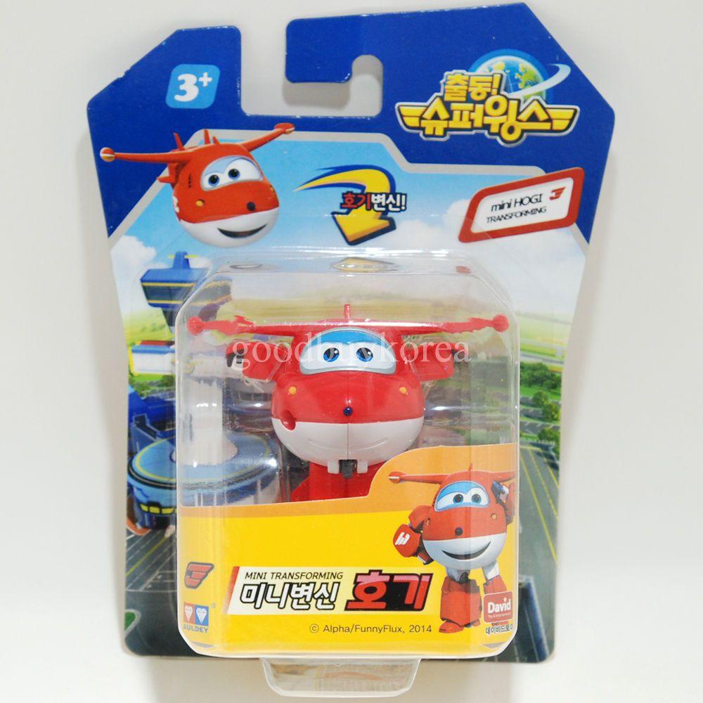 Superwings Mini Transforming Robot Hogi Courier Plane Korea Tv Animation Toy Tv Animation Animation Mini