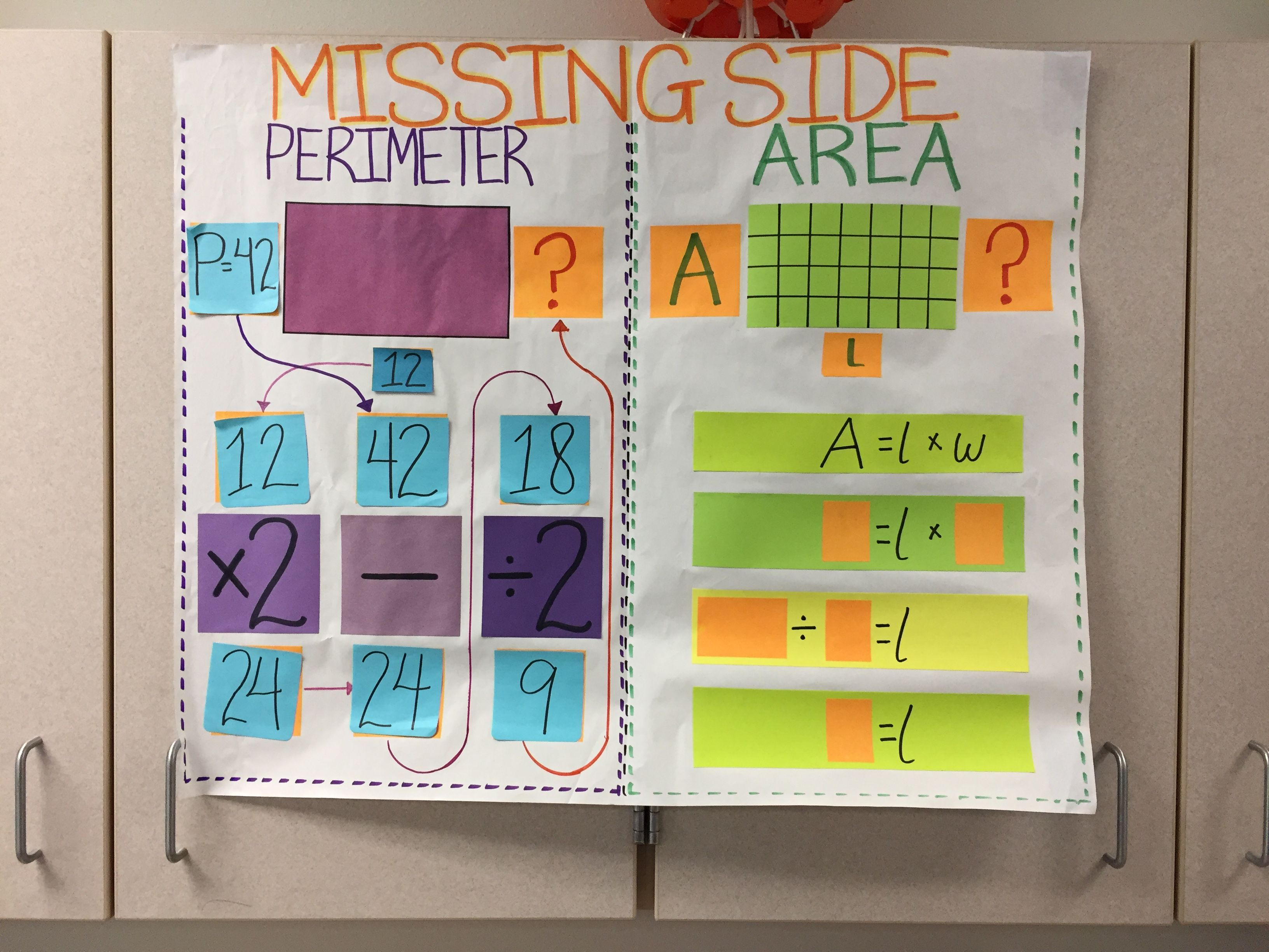 Area Perimeter Missing Side