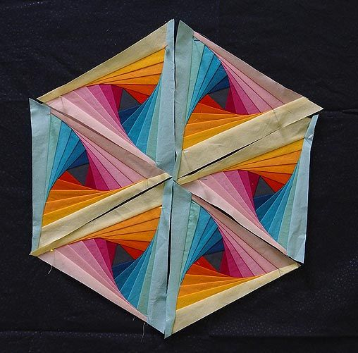 triangle template, do it right and it makes striking flowers! This ... : twisted log cabin quilt - Adamdwight.com