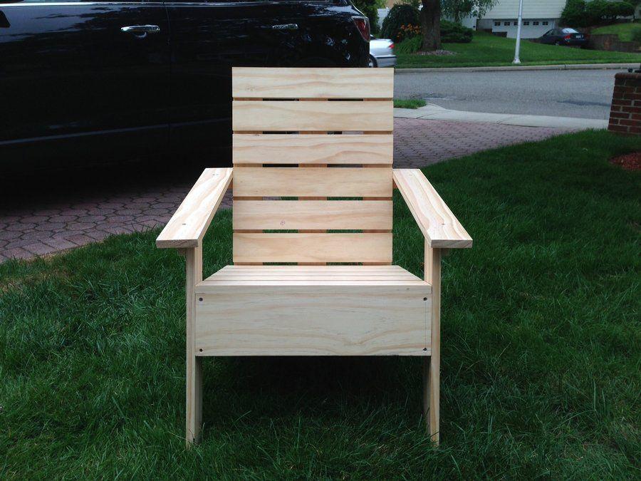 Image Of Modern Adirondack Chair Plans Construction