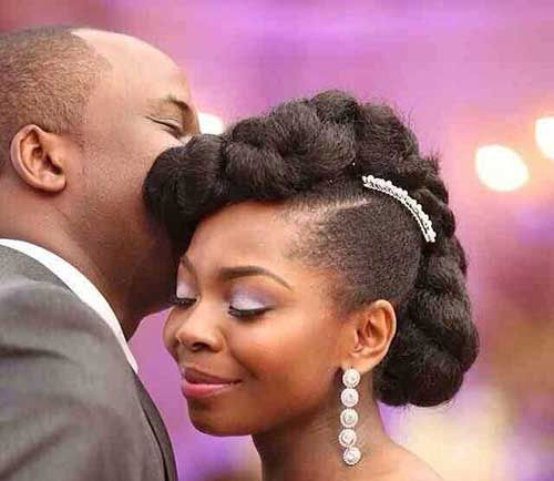 25 Wedding Hairstyles For Black Women Idees De Coiffures Cheveux Afro Idee Coiffure Mariage