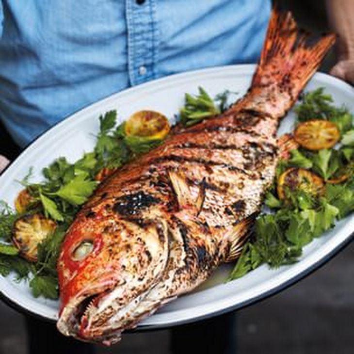 Grilled Whole Fish Recipe In 2020 Whole Fish Recipes