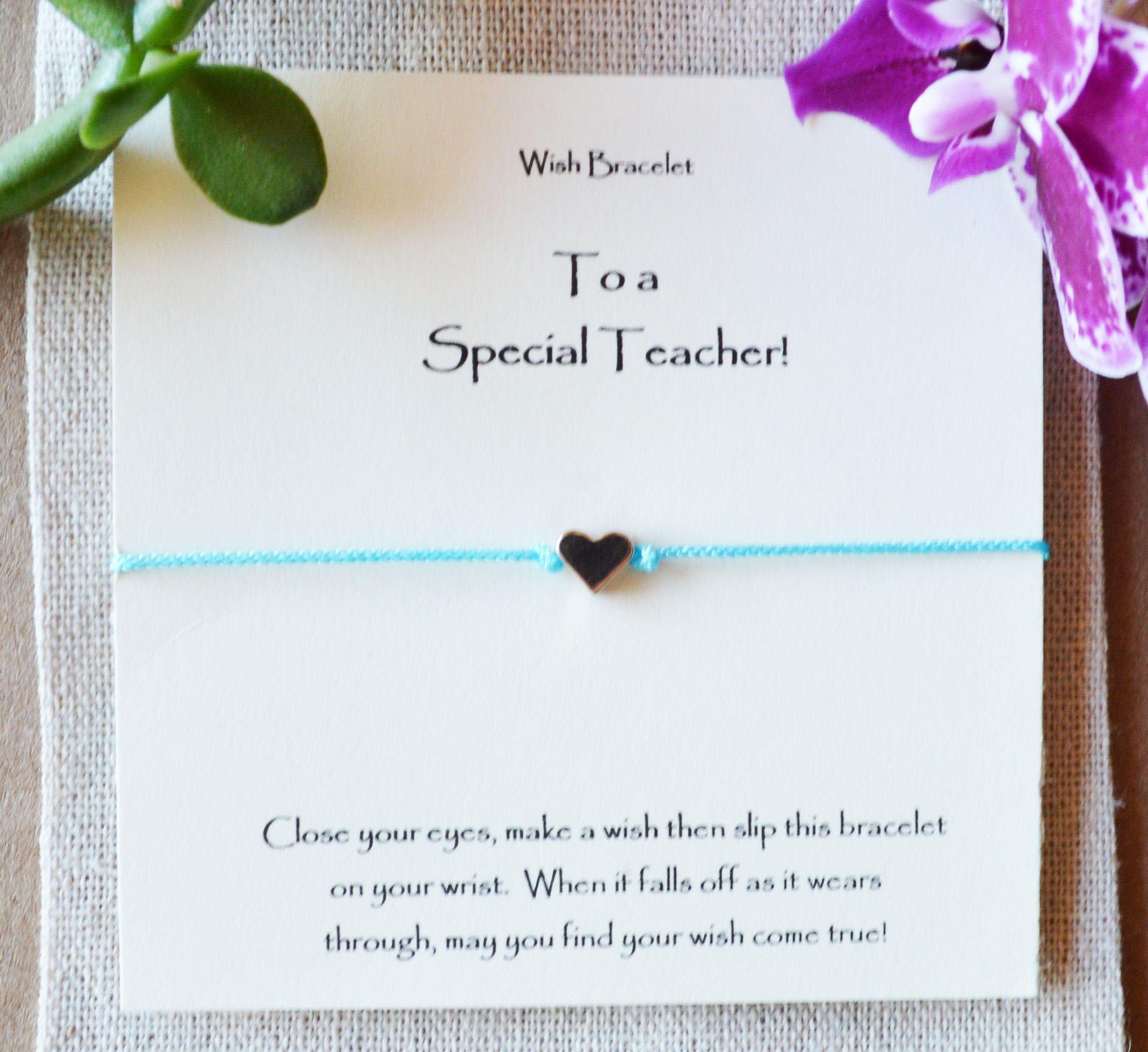 wonderful teacher gift teacher wish bracelet teacher holiday gift Teacher gift special teacher gift end of school year teacher gift
