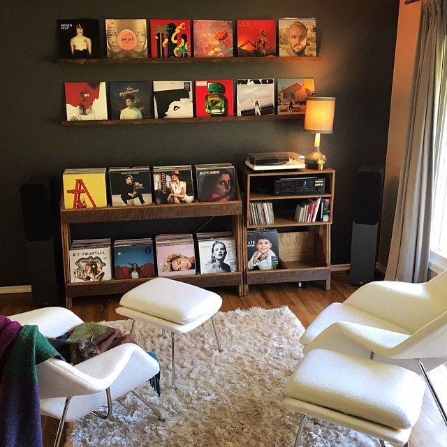 Record Player Stand and Vinyl Storage Cabinet | Kallax Alternative | – Modern