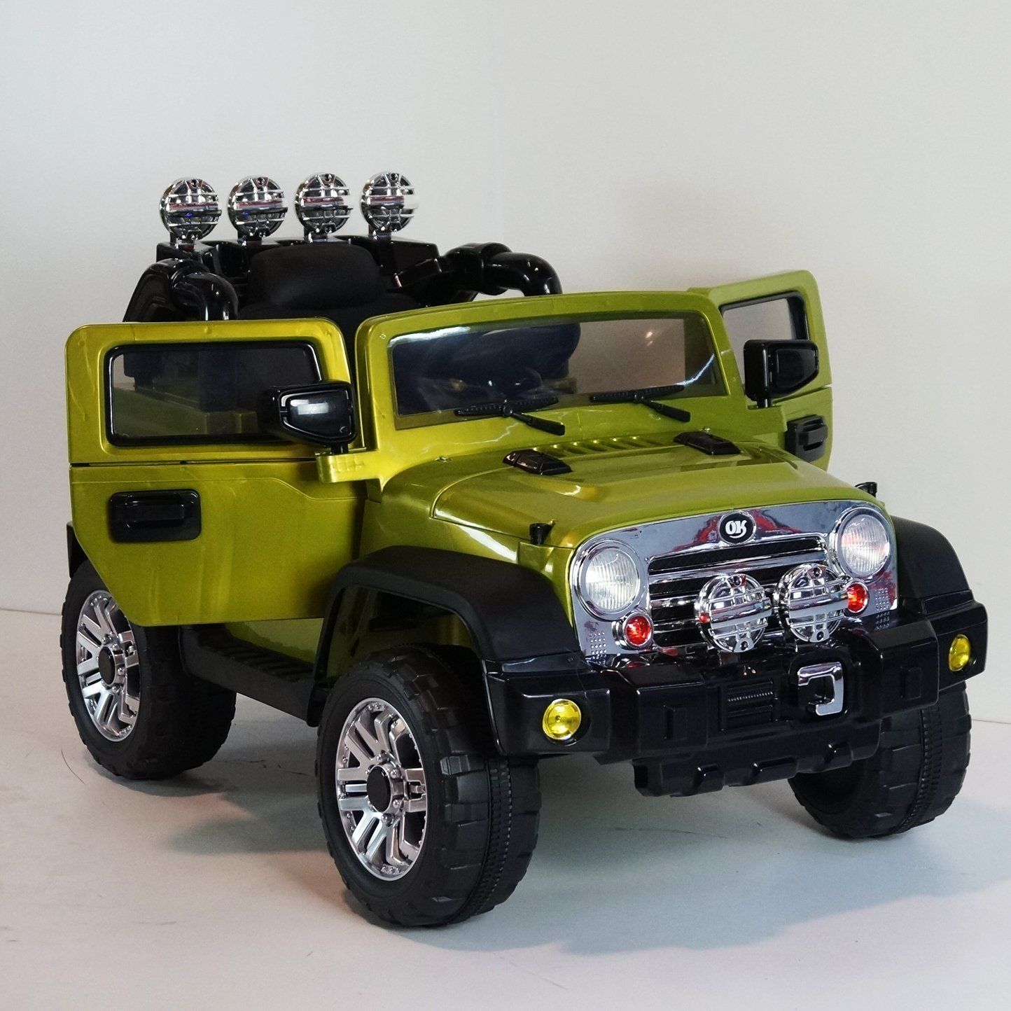 luxurious limited edition jeep cj7 12v battery 2 motors mp3 remote control