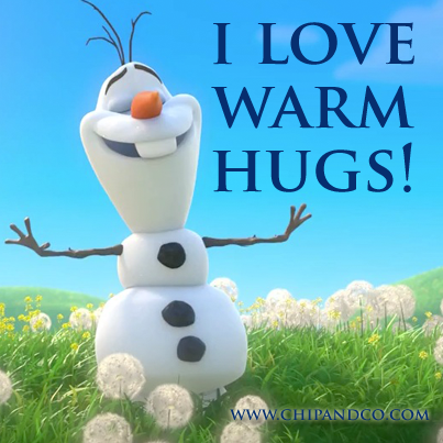 I love warm hugs!
