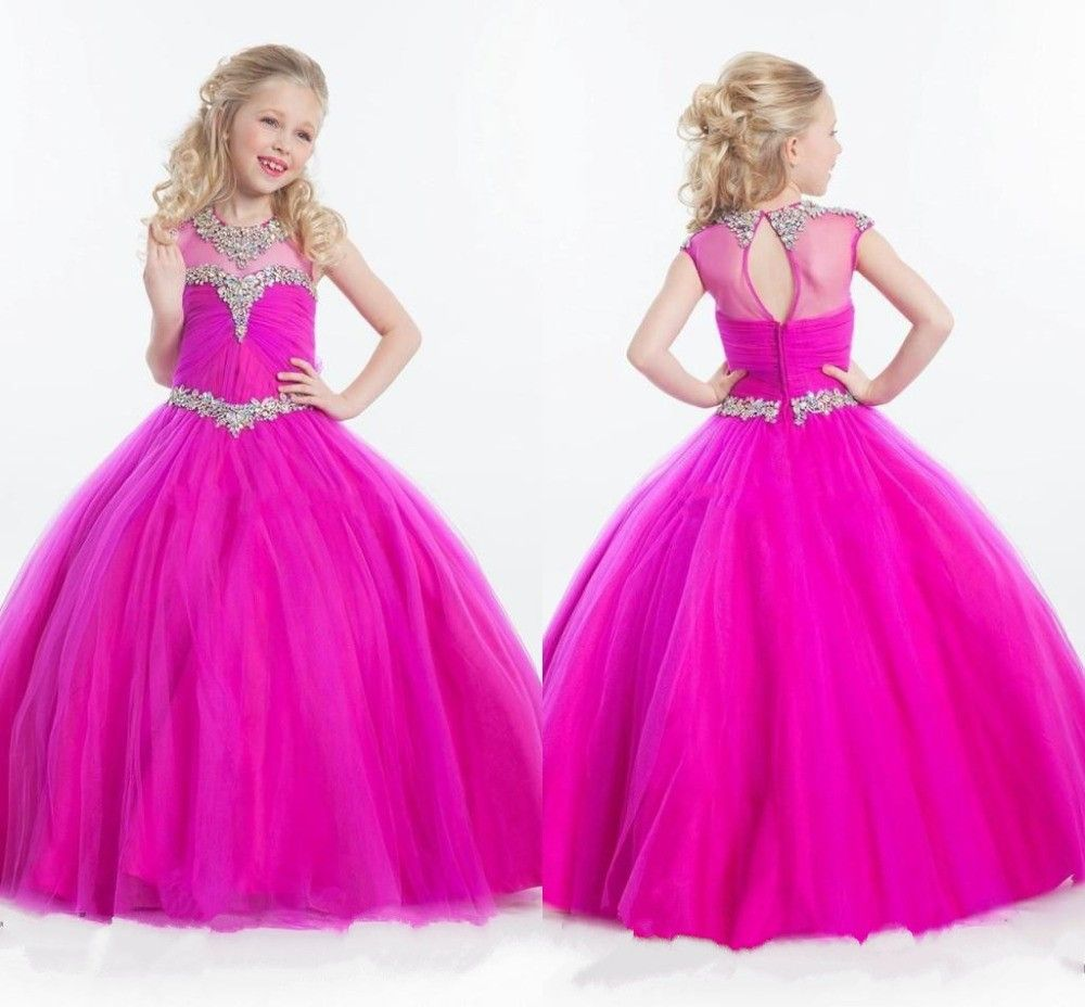 2015-Rachel-Allan-Beaded-Crystal-Kids-Formal-Pageant-Dresses-For ...