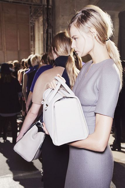 {at the office : of elegant simplicity & structured handbags} by {this is glamorous}, via Flickr