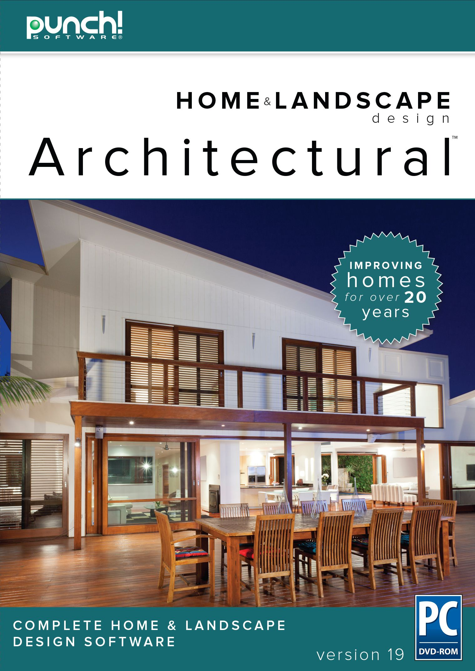 Punch Home Landscape Design Architectural Series V19 Home Design Software For Windows Pc Down Home Design Software Software Design Poster Design Software