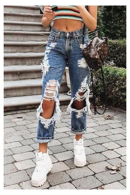 loose jeans style