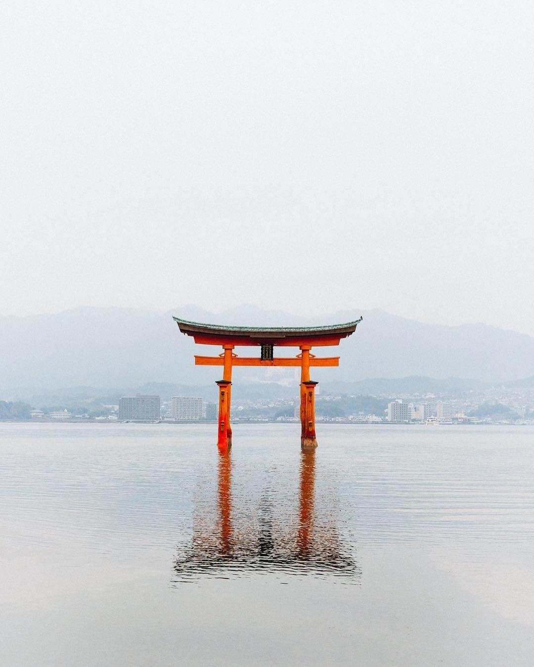 Torii of jishu-jinja egy házassági szentély