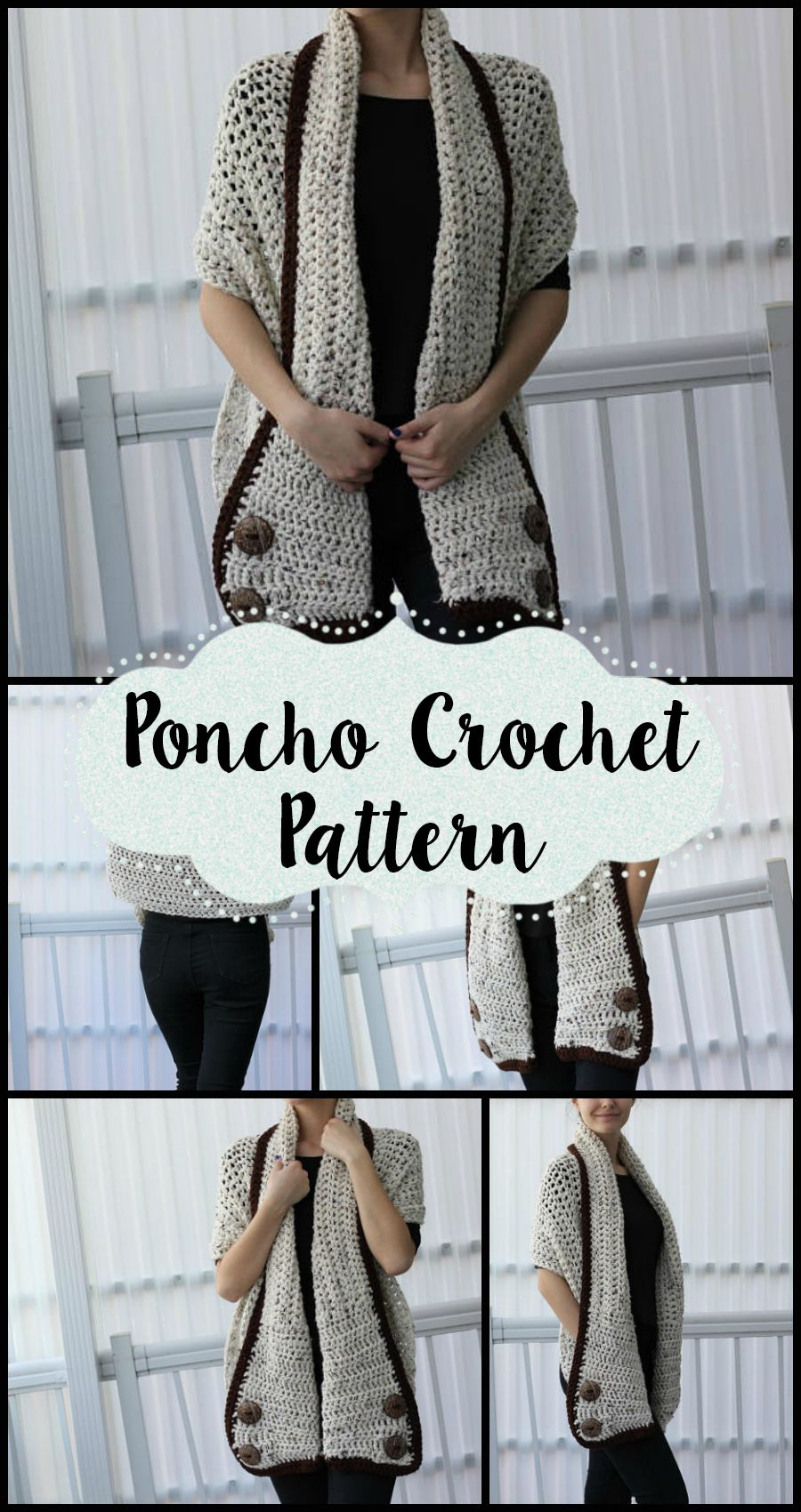 Another great Poncho Pattern! This looks so cozy and would be ...