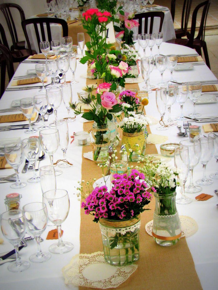 ma d coration table mariage champ tre r tro vintage inspirations mariage pinterest tables. Black Bedroom Furniture Sets. Home Design Ideas