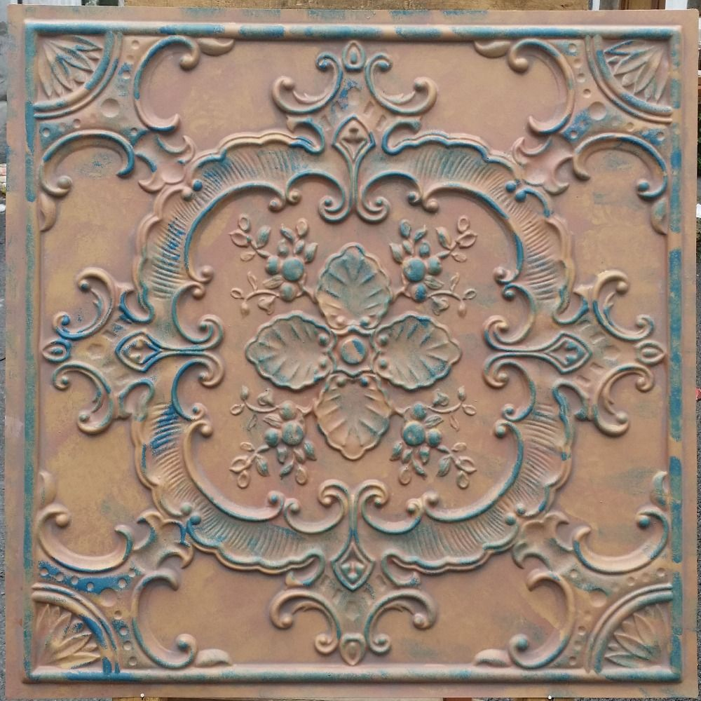 tile tiles up copper antique faux x glue ceiling ceilling casablanca tin