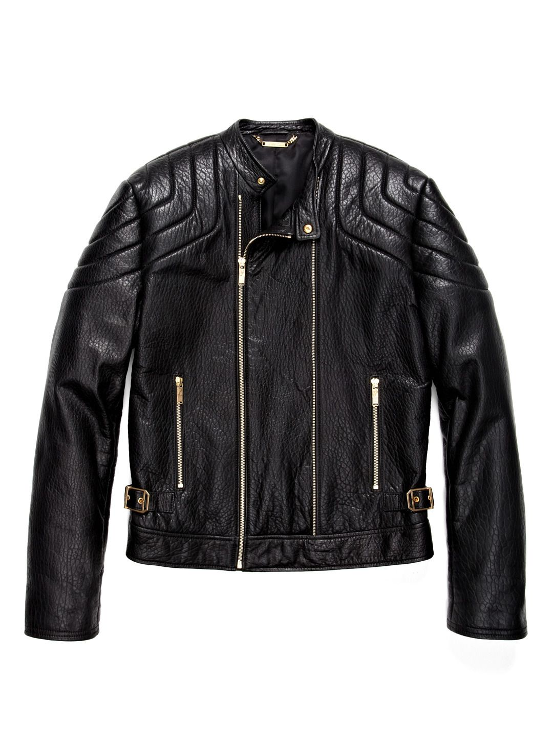 f1f91f3c Versace Biker with the gold trims | My Style | Leather Jacket ...