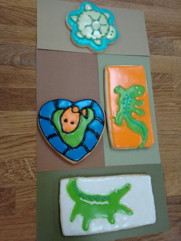 Reptile cookies by The Mix Bake Shop