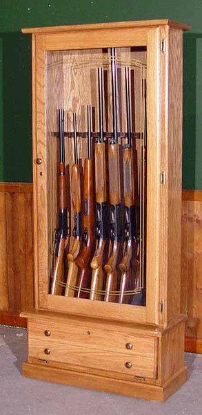 Ordinaire Oak 12 Gun Cabinet