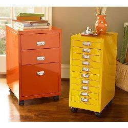 Paint Old Metal Filing Cabinets In Brighter Colors Filing