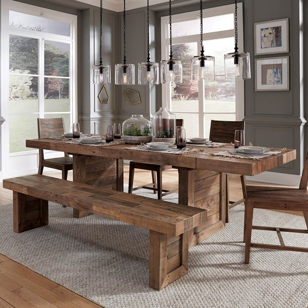Omni Dining Table Natural Farmhouse Dining Rooms Decor Dining