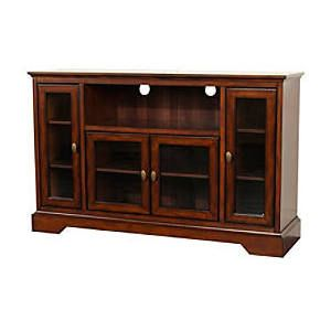$315 Walker Edison Antique Style Highboy 55 Inch TV Cabinet (Rustic Brown)  W52C32RB