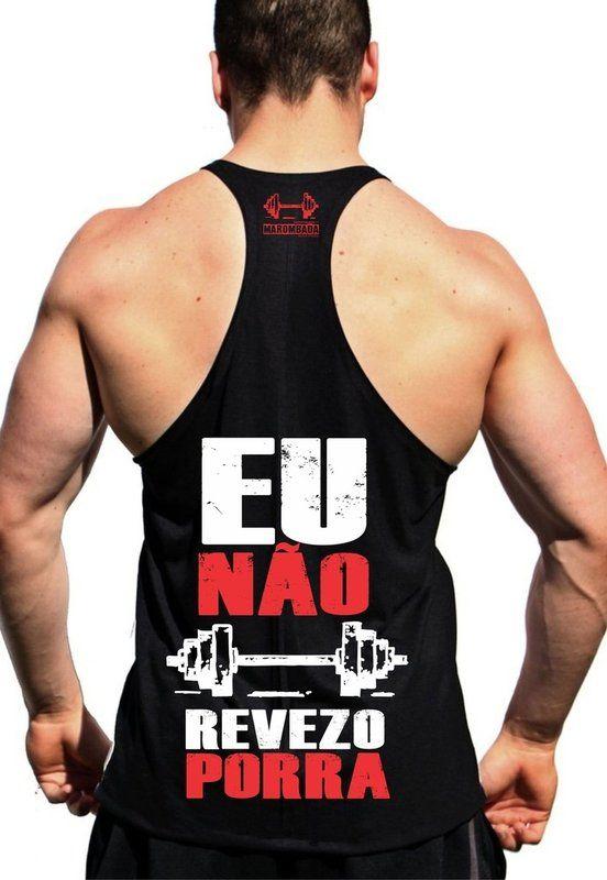 832d55ddb7aa5 Regata Cavada fitness de musculação para malhar No Meu Treino Eu Não Revezo