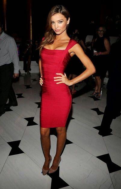 Miranda Kerr in a red Herve Leger. The perfect Vegas dress. Xo ... 0efbd52dd