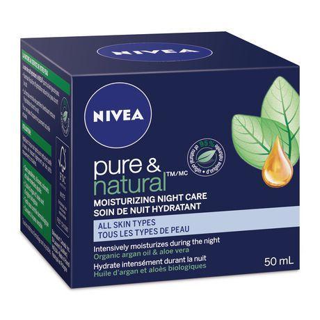 Nivea Pure Natural Moisturizing Night Care Cream For All Skin