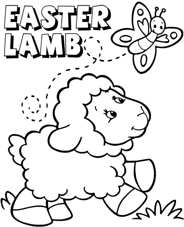 Easter Lamb Coloring Page Topcoloringpages Net Easter Lamb Coloring Pages Easter Coloring Pages
