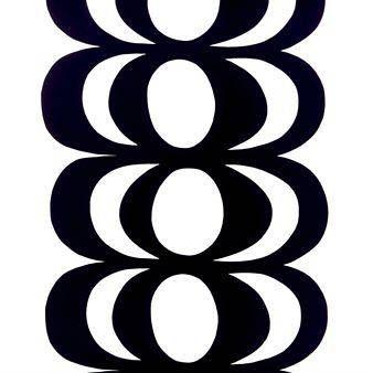 Marimekko Kaivo-kangas musta-valkoinen musta-valkoinen