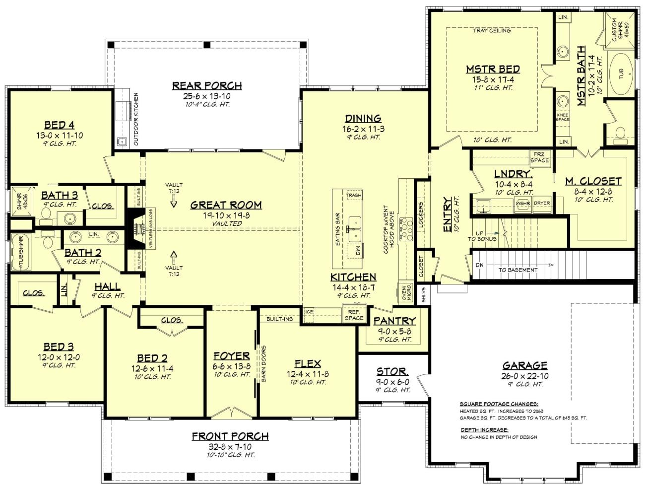 Holly Crest House Plan Craftsman Style House Plans House Plans Modern Farmhouse Plans