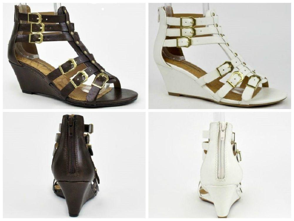 Womens Ankle Strappy Open Toe Gladiator Sandals Zipper Buckle Heel Low Wedge #CityClassified #PlatformsWedges
