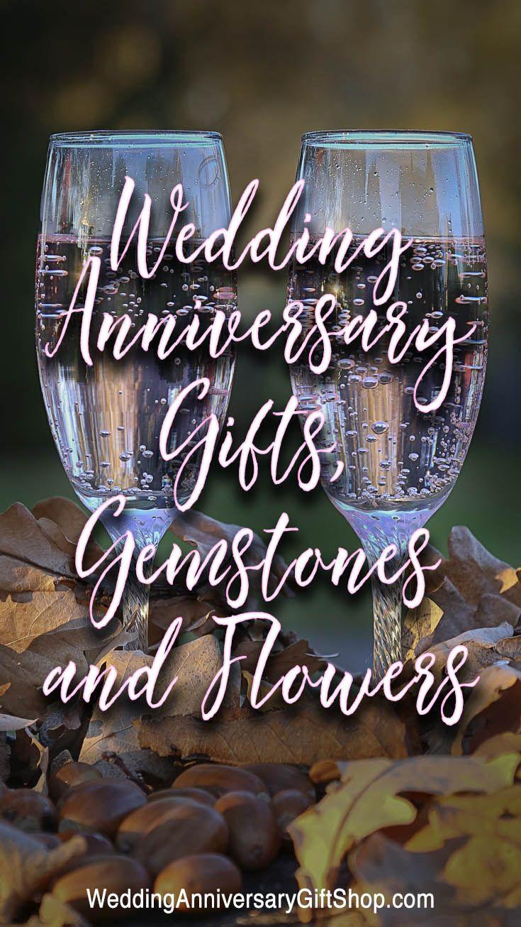 Wedding Anniversary Gifts, Gemstones and Flowers Wedding