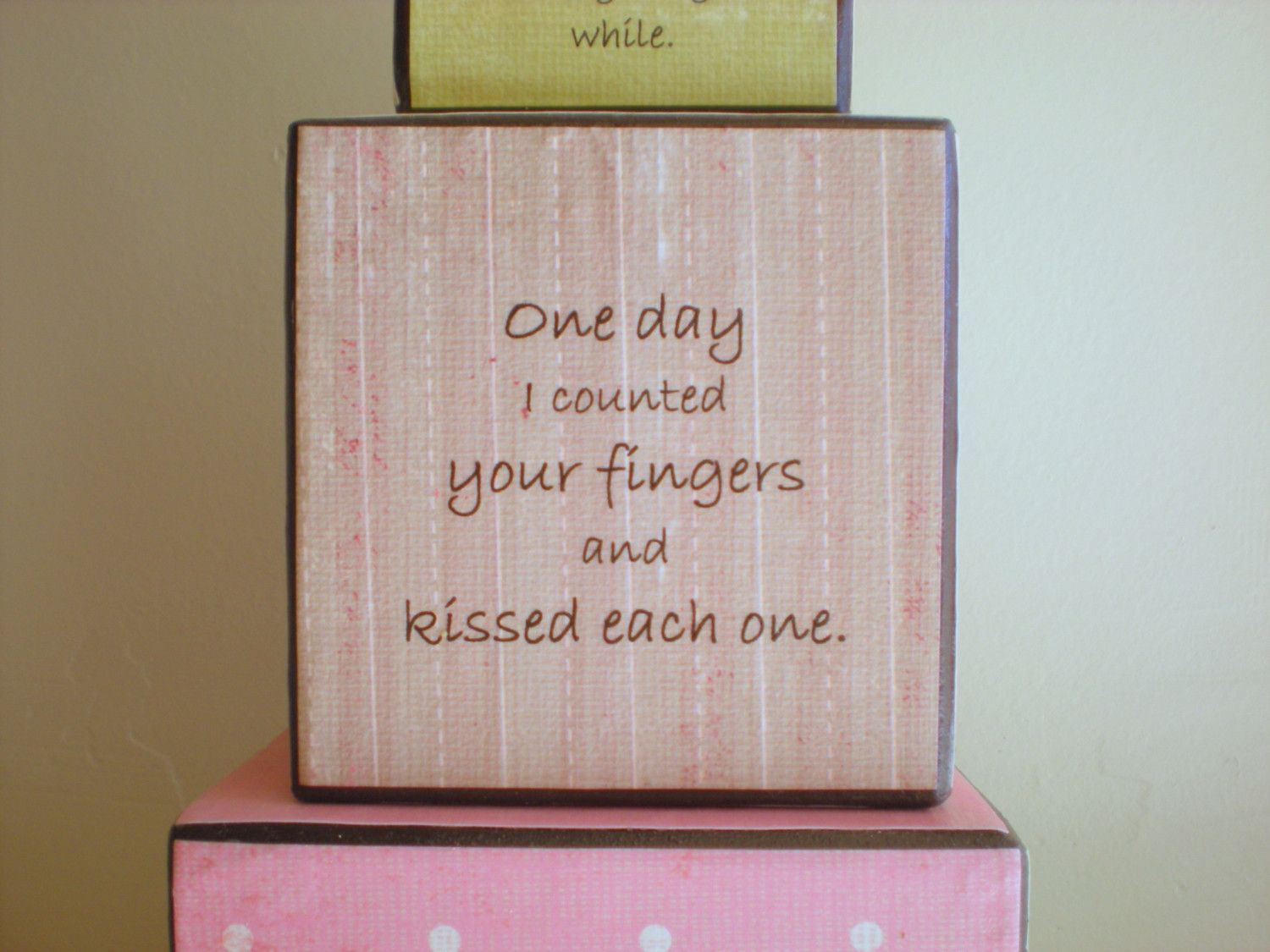 Storybook Baby Shower Chalkboard | Storybook Stacking Nursery Blocks - CAN BE CUSTOMIZED IN ANY COLOR ...