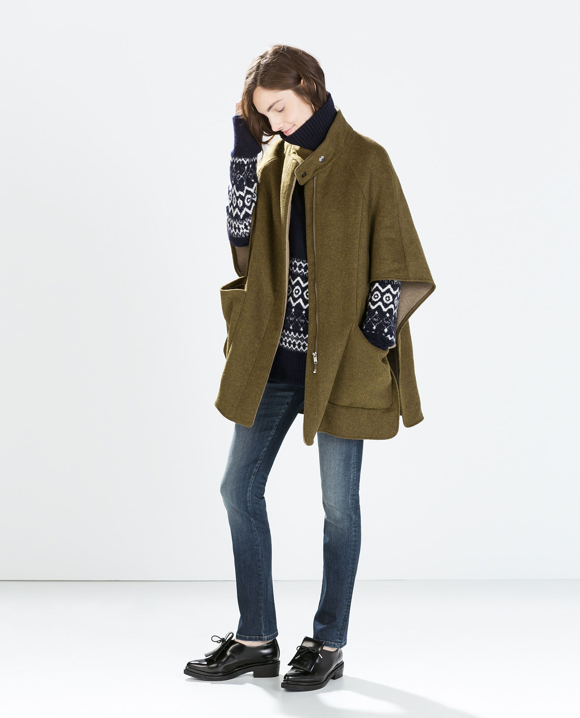 Image 1 of DOUBLE-SIDED CAPE from Zara