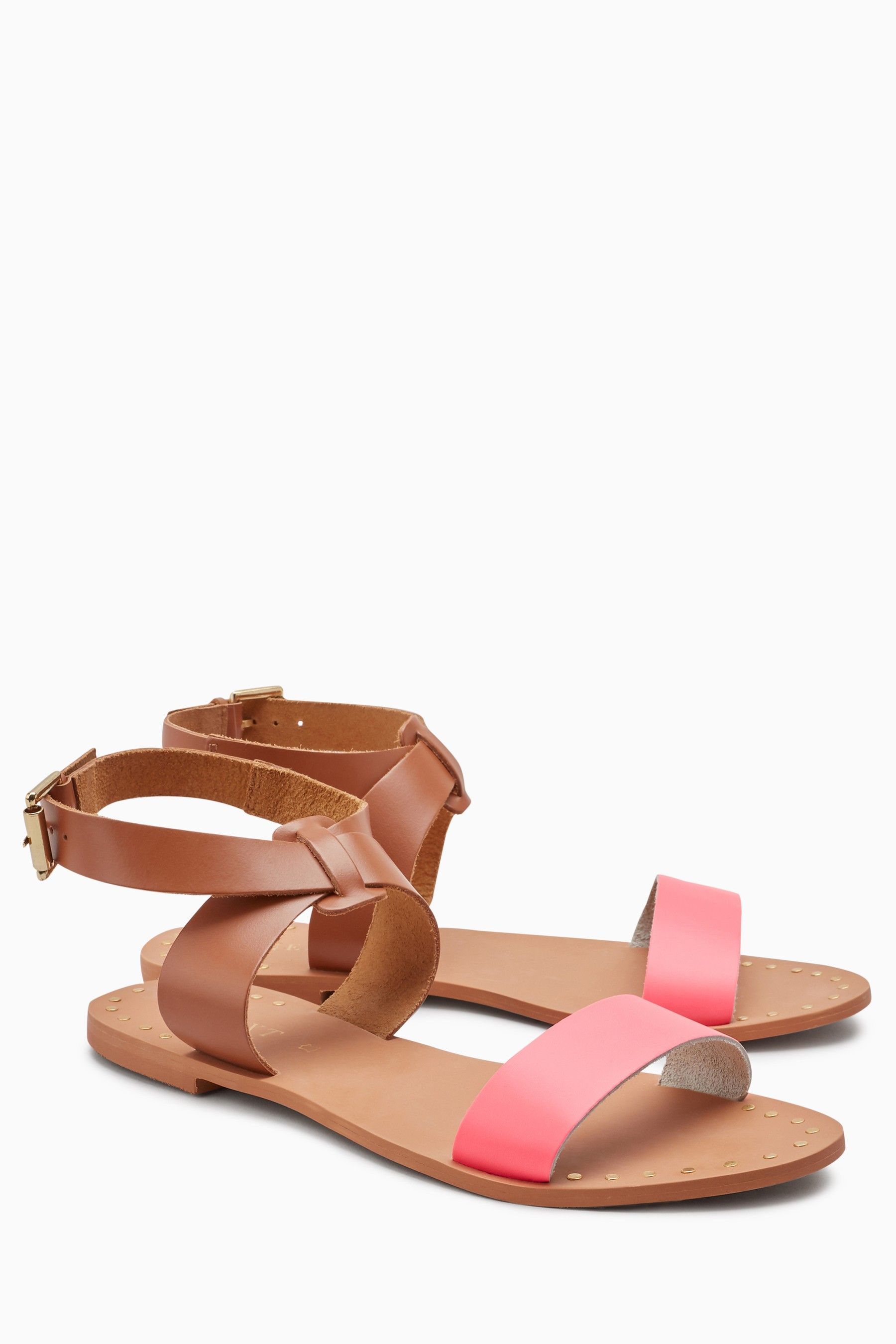508bf2fd72 Womens Next Neon Ankle Strap Sandals - Pink | Products | Ankle Strap ...
