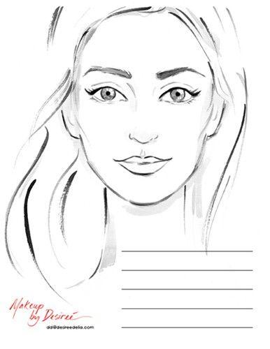 Jennifer Lilya Makeup Face Charts Face Chart Face Template