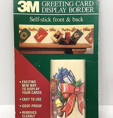 Beautiful Christmas Card Display Border Self Stick Both Sides 3M Deck The Walls Vtg  1992